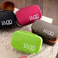 Double couche en plastique boîte à lunch haute capacité résistant à la chaleur Lunchbox sécurité four à micro-ondes boîtes à bento couleurs pures 17 99sm BB