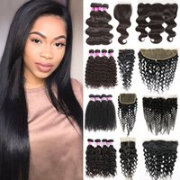 brazilian virgin hair body deep water wave kinky curly strai...