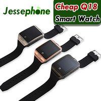 Reloj inteligente con cámara, Q18 Bluetooth Smartwatch SIM TF Ranura para tarjeta Fitness Activity Tracker Reloj deportivo para Android 1pcs