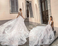 2019 Elihav Sasson Wedding Dresses Beach Halter Sexy Back Ap...