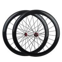 탄소 Wheelset Clincher 정면과 후방 700C 도로 자전거 바퀴 Powerway R13 허브 제일 질
