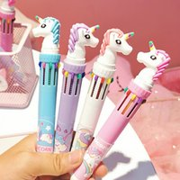 Unicorn 10 Colors Ballpoint Pen Cartoon Gel Pen School Offic...
