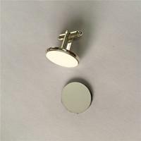 Abotoaduras francesas para sublimação abotoaduras em branco para homens para impressão de transferência de calor presentes personalizados consumíveis em branco 20mm