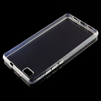 100 stks Ultra Dunne Duidelijke Transparante Zachte TPU-hoes voor Huawei P8 P8 MAX MINI LITE LITE 2017 Telefoonhoesje