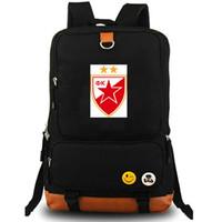 Belgrad mochila días Belgrado Estrella Roja paquete de bolsa de la escuela club de fútbol FK Fútbol packsack mochila mochila mochila deporte al aire libre
