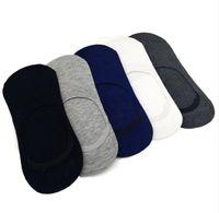 5 Paare / los Mode Lässig Männer Socken Hohe Qualität Banboo Baumwolle Socken Kurze Unsichtbare Hausschuhe Männlichen Flacher Mund No Show Socke
