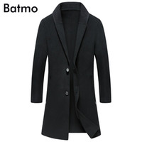 BATMO 2018 new arrival winter high quality Double sided wool smart casual trench coat men,men's long jackets ,plus-size 9810