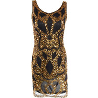 Women Luxury Dress Boutique Sexy Sling Sequin retro pattern ...