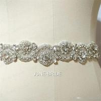 Hohe qualität handgemachte kristall strass gürtel hochzeitskleid glas schärfe schärpen hohe qualität brautzubehör krawatte zurück