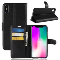 DHL은 무료 Bookcover iphoneXS 최대 고급 가죽 뒤집기 지갑 커버 iphoneXR 무거운 의무 adsorbtion 커버