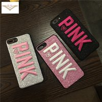 PINK Glitter Phone Case for iphone X 8 7 6s 6s plus Samsung ...