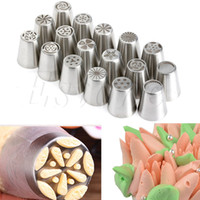 17Pcs Set Russian Tulip Icing Piping Nozzles Cake Decoration...