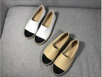 style New Women Espadrilles Canvas Lambskin Suede with Pearl...