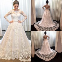 Noble Wedding Dresses Temperament Vintage Long Sleeves Lace ...