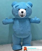 Inflatable Blue Bear Mascot Costume for Theme Park Opening C...