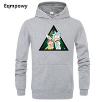 Autumn winter Character fashion Anime Men Sweatshirt Rick Mo...