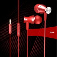 Metalowy 3.5mm Jack Stereo Bass Surround Basile w słuchawkach Ear z pączkami dousznych mikrofonów do zestawu słuchawkowego telefonu komórkowego