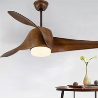 52inch Modern simple dining room fan pendant light remote co...