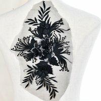 cerotto stereo merletto del ricamo di fiore con il vestito da sposa perline Nail materiali fai da te accessori costume teatrale T003