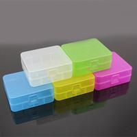 Qualité 26650 Batterie Case Boîte de sécurité Porte de stockage de conteneurs en plastique coloré Portable Case Fit 26650 Batterie