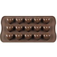 Moldes de Chocolate de silicona Moldes de Hielo en Forma de Corazón de Amor DIY Molde de Horno de Hielo Para Accesorios de Cocina 15 celosías