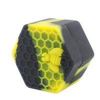 Reiche farbe honigbiene hexagon silikonbehälter gläser behälter silikonbehälter für öl crumble honig wachs silikon gläser dab