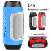 C65 bluetooth 4.0 mini speaker portátil ao ar livre estéreo de som HD subwoofer surround 3D com build-in mic supply RÁDIO TF CARD AUX PLAY