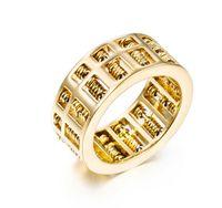 Moda de luxo Homens Mulheres Abacus Anel Número de Matemática Jóias de Prata de Ouro de Aço Inoxidável Titânio Charme Anéis de Dedo Presentes