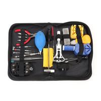 21PCS professionale strumento di riparazione di orologi Kit Magnifier caso titolare Band Band Band Link Remover Set con custodia