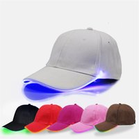 3009aac224e Wholesale athletic hats online - LED Baseball Caps Night Luminous Ball Hat  Changing Mode Flash LED