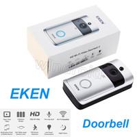 Original Eken Smart Wireless Video Türklingel 720p HD WiFi Sicherheitskamera Echtzeit Zwei Way Talk and Video App Control PIR Intercom 20 stücke