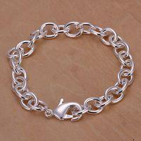 Bracelet en argent sterling fine 925, Noël Nouveau Style 925 Chaîne en argent Bracelet pour femme Hommes Mode Bijoux Cadeau Lien Italie Perck H89