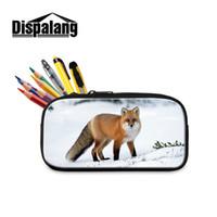 لطيف 3d فوكس طباعة أطفال مقلمة للأطفال اللوازم المدرسية جميل متعدد الوظائف التجميل حقائب الجودة تخزين الحقيبة في الهواء الطلق مكتب