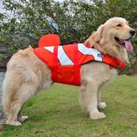 Glorioso Kek mais novo revestimento de vida do cão Vest Verão Pet Dog Life Dog Verão Segurança Vestuário Costume bonito do tubarão Sereia S / M / L