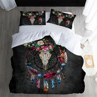 Dreamcatcher Bedding Tribal Horns Feathers Flowers Cool Skul...