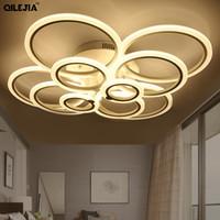 Moderne LED-Deckenleuchten für Wohnzimmer Schlafzimmer Weiß Einfache Unterbrechungsmontage LED-Deckenleuchte Home Beleuchtung Leuchten AC85-265V
