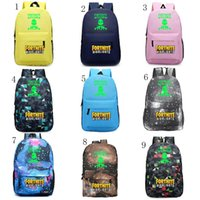 Children Fortnite cartoon student School Bag Noctilucous Lum...