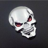 10st / Lot 3D Skull Car Boot Chrome Badge Universal Auto Art Rear Truck Emblem Klistermärke