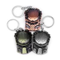 Alien vs Iron Warrior Maske Alloy Keychain, Alloy Keychain Schmuck Großhandel, Schmuck Anhänger Anhänger, Werbegeschenke