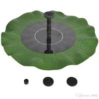 Energia solare all'aperto Impermeabile Fontana da giardino Cortile Pompe per l'acqua Fontana di forma a foglia di loto Galleggiante Nuovo arrivo 55rh dd