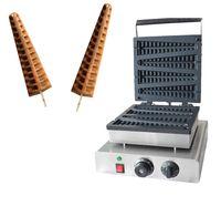 Gratis fraktkostnad Kommersiell användning 4 st Lolly Waffle Maker Machine Hot Dog Waffle Stick