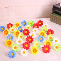 Small Silk Sunflower Handmake Artificial Flower Head Decoração do casamento DIY Wreath Scrapbooking Craft Fake Flower