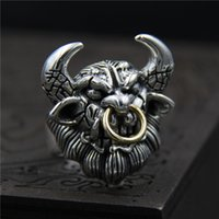 925 sterling silver ring vintage ring mens domineering Niu M...