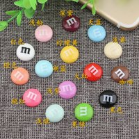 14mm Special DIY resin round M bean super fun chocolate M be...