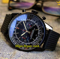 Navitimer 01 PVD Black 43mm MB0128AN Black Dial Japan Quartz...