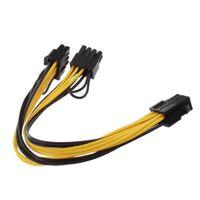 Freeshipping 10pcs Modulo 6 PIN a Dual PCI-E PCIE 8 PIN + 8 PIN (6 + 2 PIN) Cavo di cavo a nastro di potenza 20cm + 20 cm per Thermaltake TT 650 W0163 PS