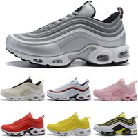 Mens 97 Air Plus WM Running Shoes 2019 Designer Silver Bulle...