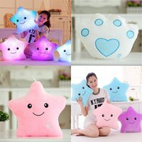 Light Up Pillow Star Shaped And Bear Paw Sofa Relax Cushion ...