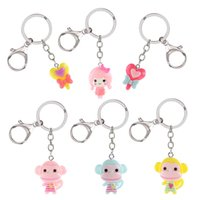 Mini Cute baby doll Key Chain Key Ring Jewelry For Women Bag...