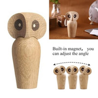 Búho innovador Animal estatua adornos lindo de madera Nightowl cocina casera europea de la moda Exquisite Art Decorations